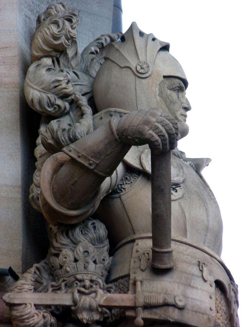 Ritter Kreß von Kressenstein Ansicht von Süden, Detail