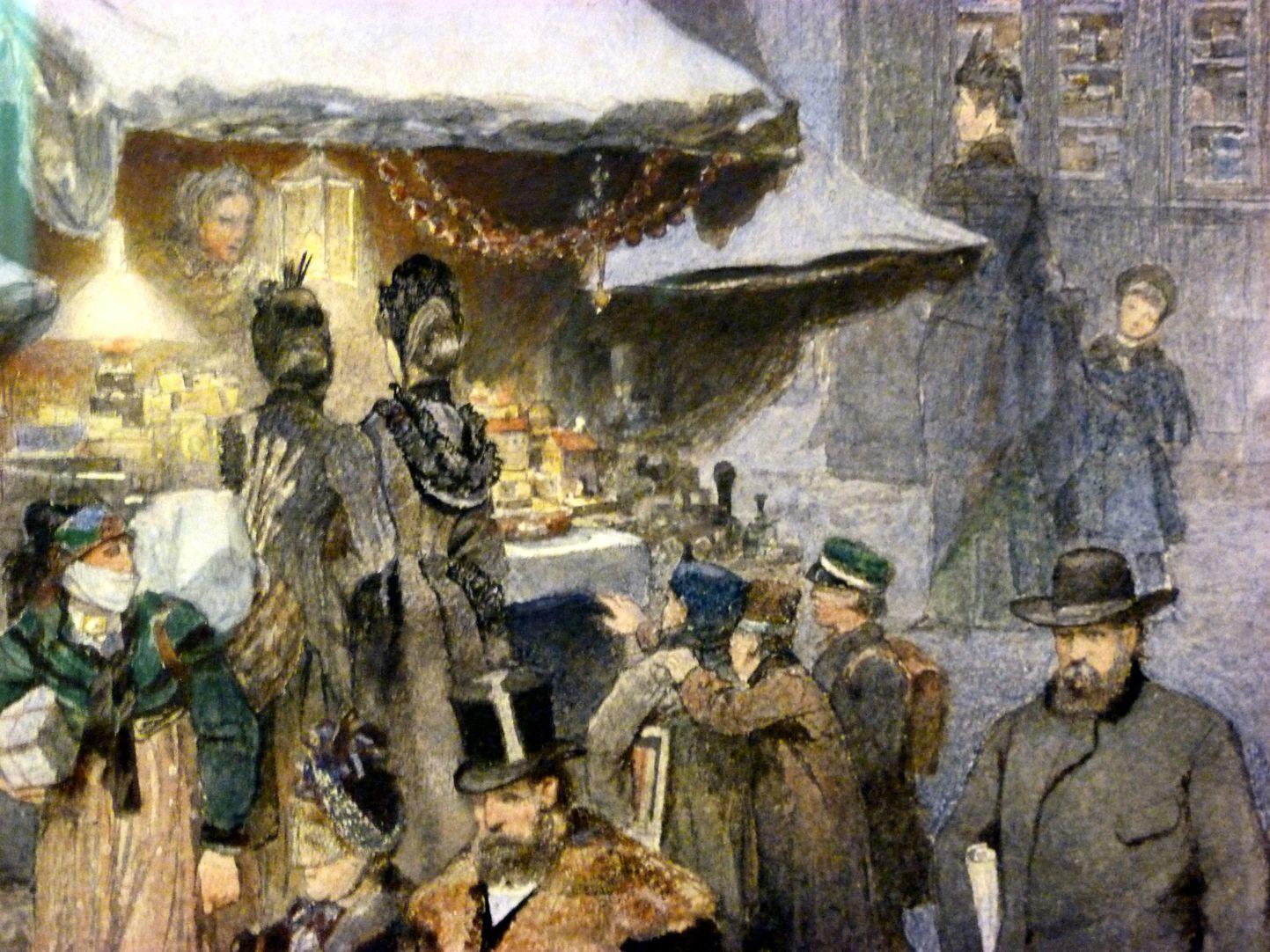 Christkindlesmarkt mit Schönen Brunnen Detail