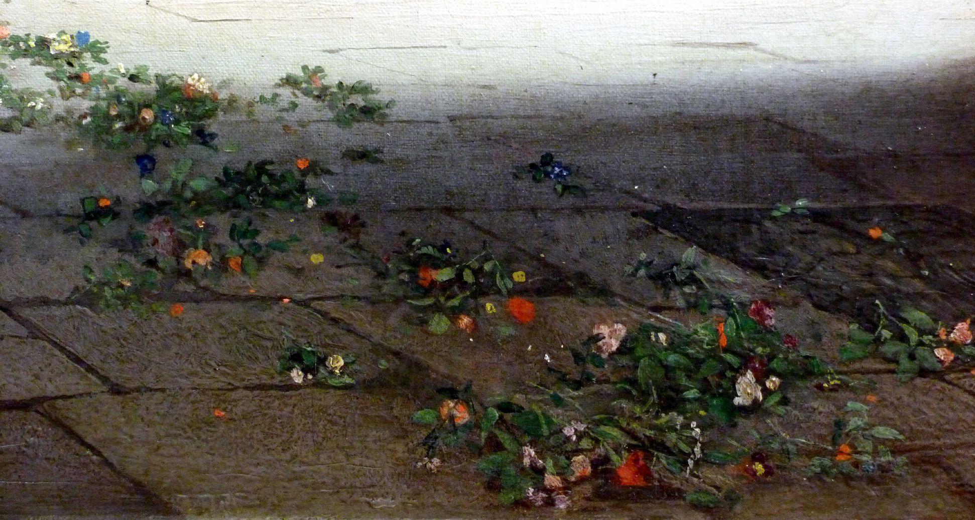Sakramentshäuschen in der Nürnberger Lorenzkirche mit Brautzug aus dem frühen 17. Jahrhundert Blumen