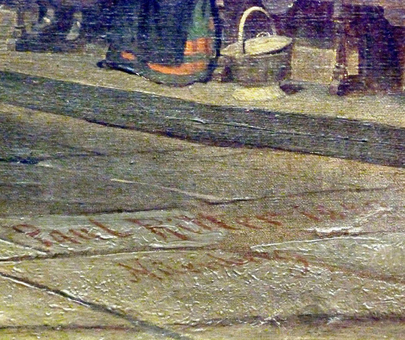 Sakramentshäuschen in der Nürnberger Lorenzkirche mit Brautzug aus dem frühen 17. Jahrhundert Signatur