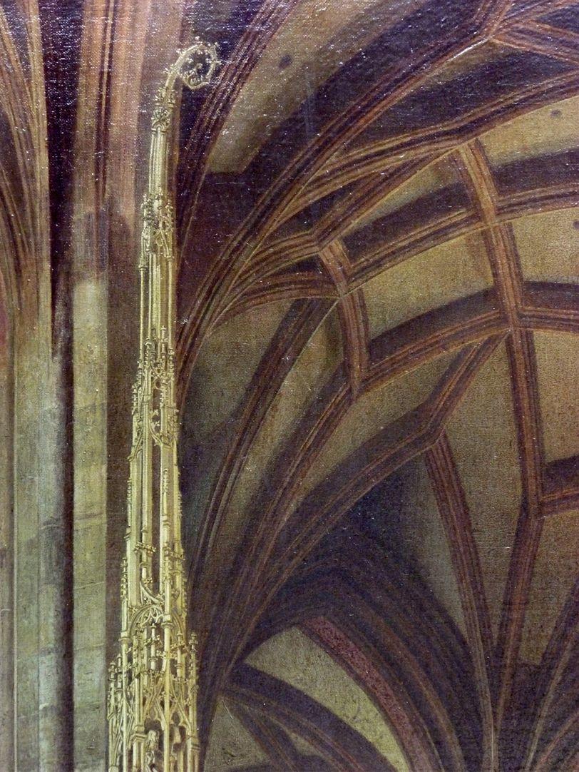 Sakramentshäuschen in der Nürnberger Lorenzkirche mit Brautzug aus dem frühen 17. Jahrhundert Sakramentshausspitze