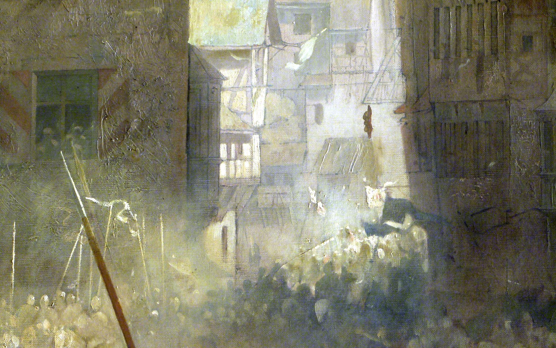 Die Einbringung der Reichskleinodien in Nürnberg am 22. März 1424 Blick in die Plobenhofstraße