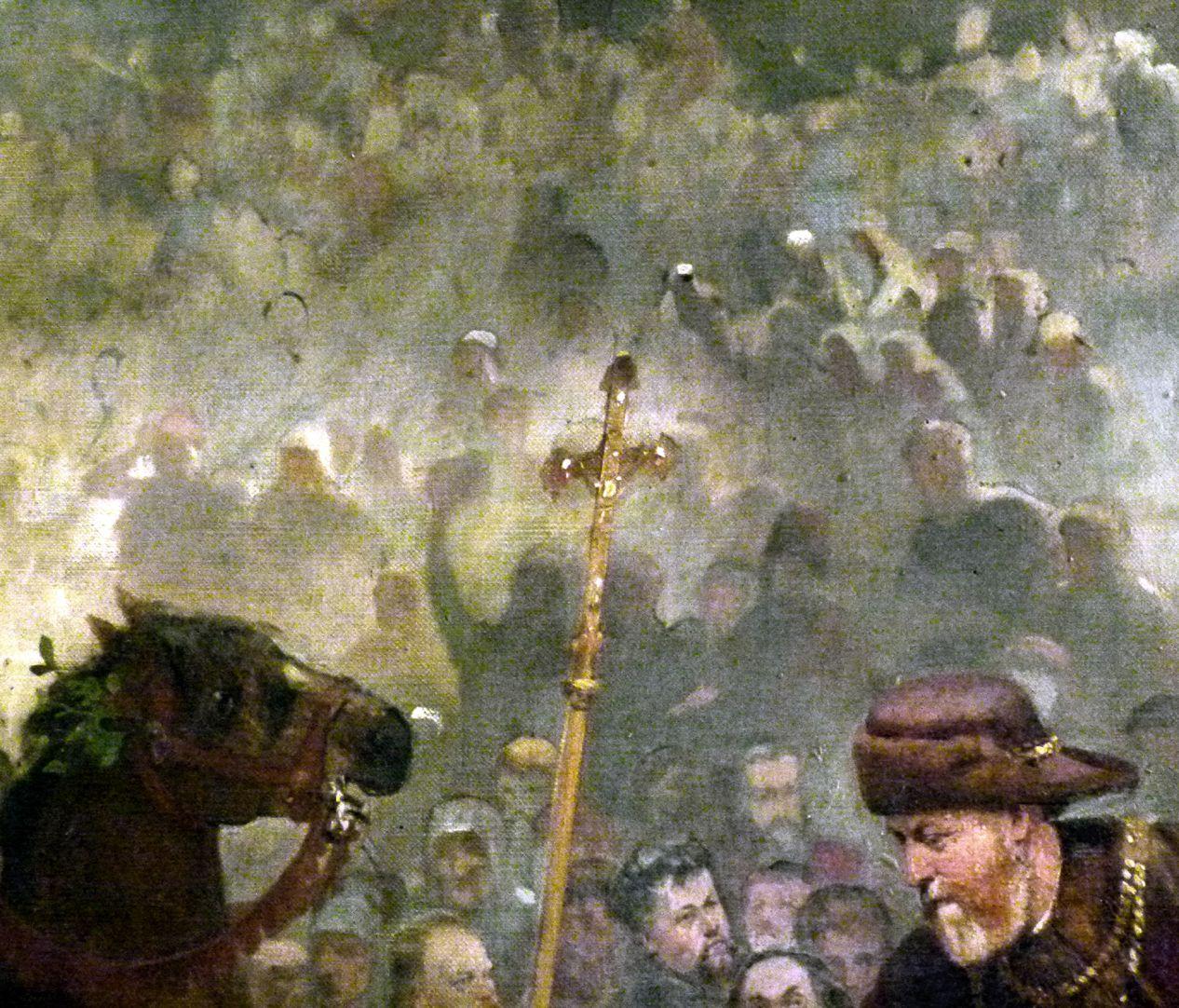 Die Einbringung der Reichskleinodien in Nürnberg am 22. März 1424 Prozessionskreuz