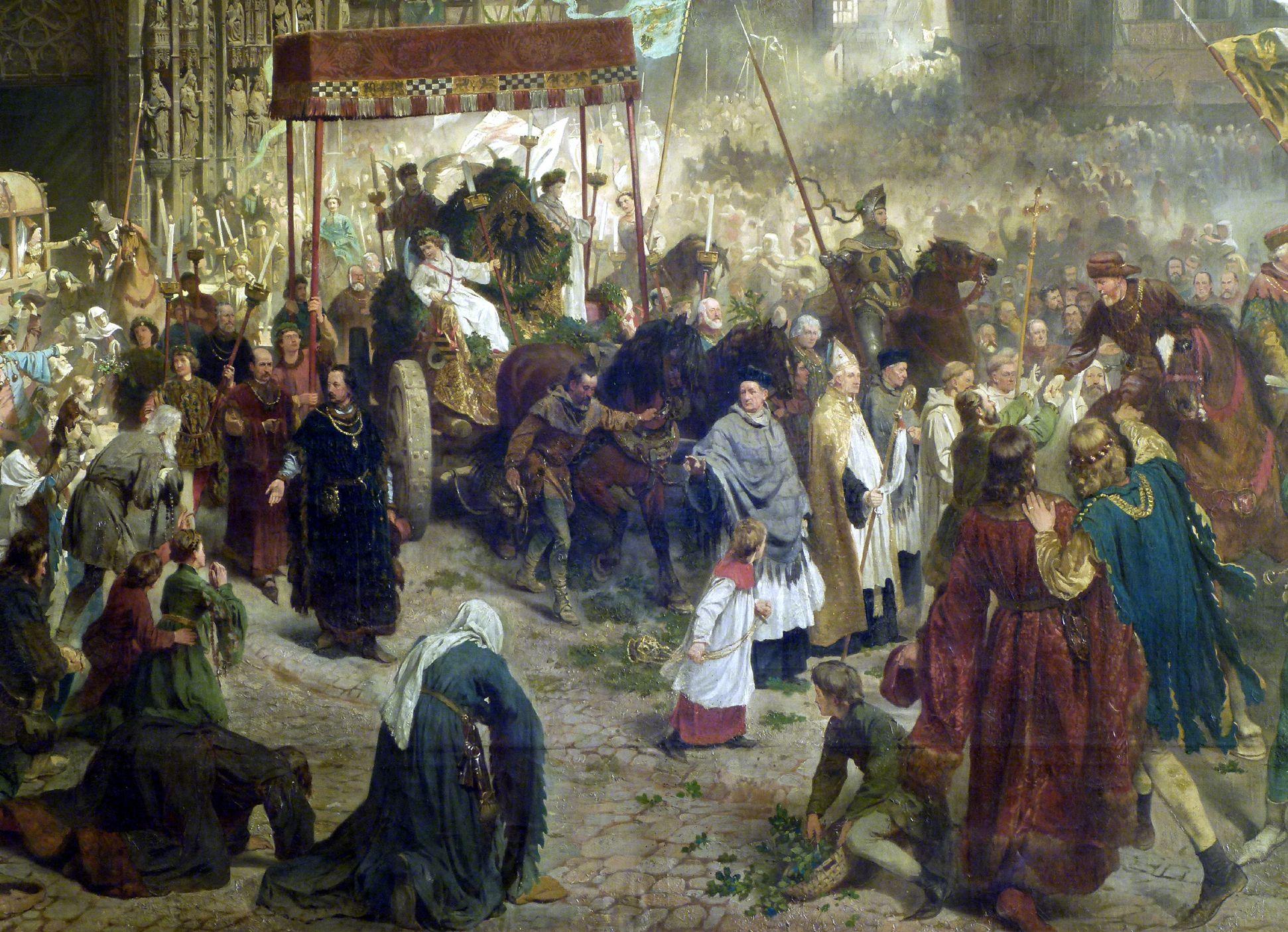 Die Einbringung der Reichskleinodien in Nürnberg am 22. März 1424 Prozession