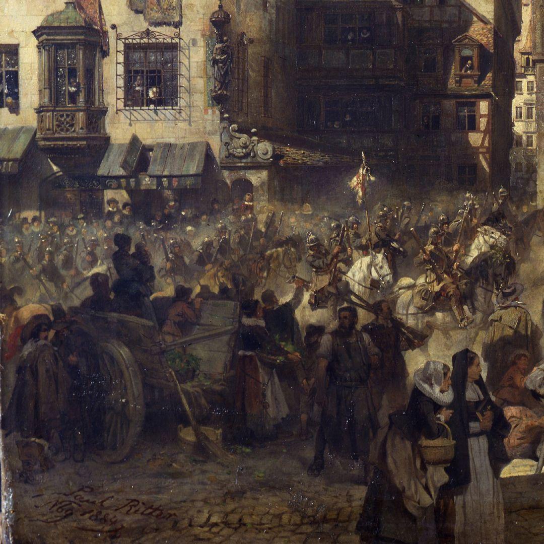 Die Alte Schau in Nürnberg linke untere Bildpartie mit Künstlersignatur