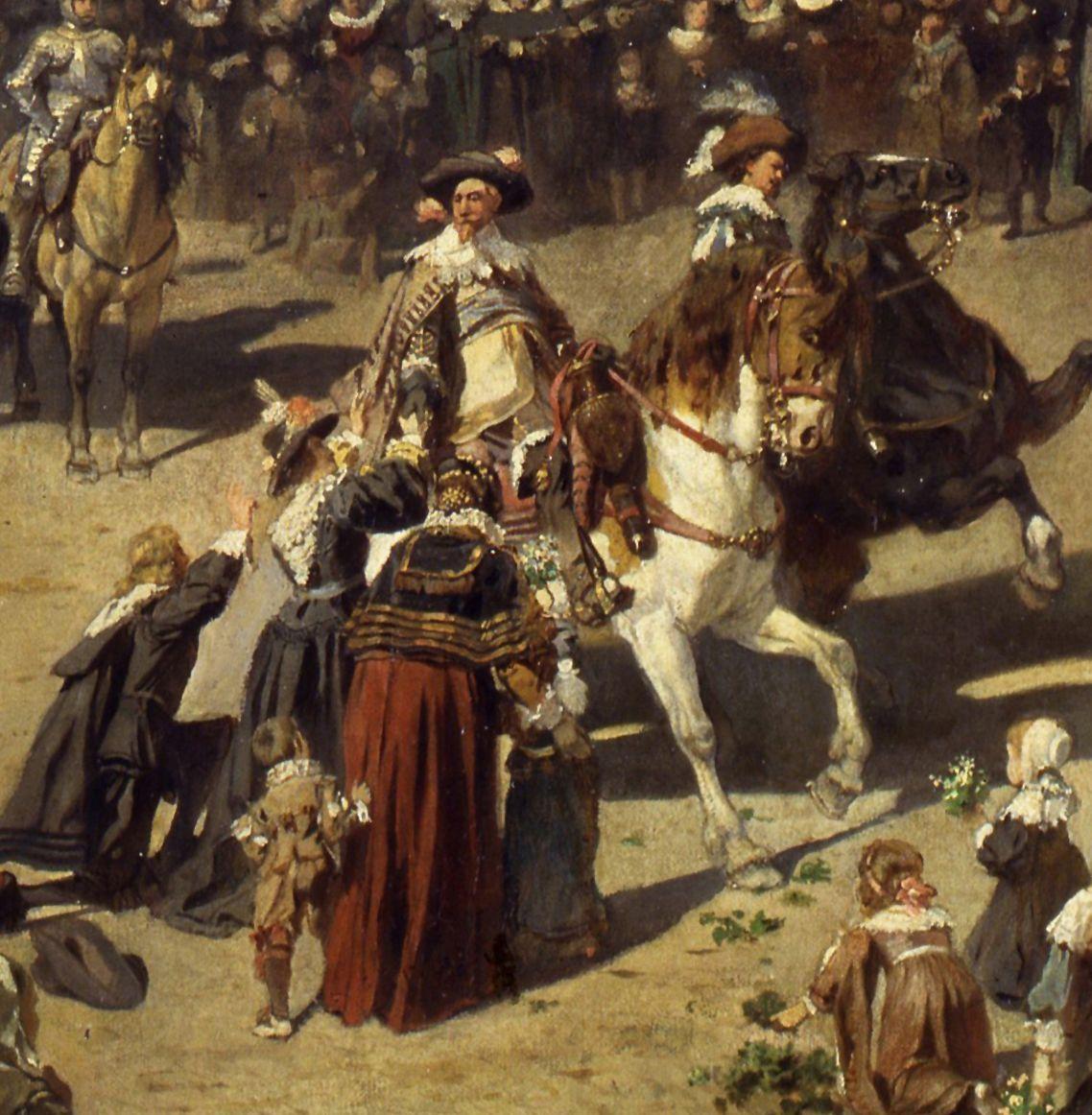 Die Alte Schau in Nürnberg Gustav Adolf zu Pferde