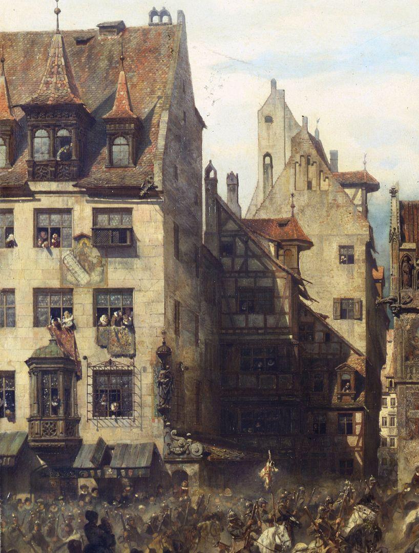 Die Alte Schau in Nürnberg Blick in die Schulgasse