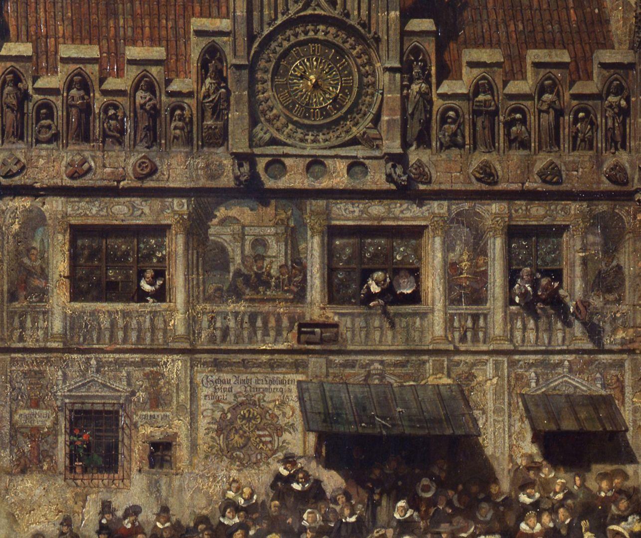 Die Alte Schau in Nürnberg Die alte Schau, eine amtliche Institution für die Prüfung von Edelmetallen, Detail
