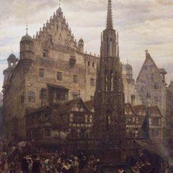 Der Schöne Brunnen zu Nürnberg im Jahre 1632