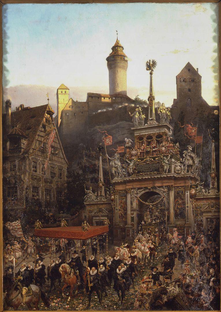 Einzug des Kaisers Matthias in Nürnberg 1612
