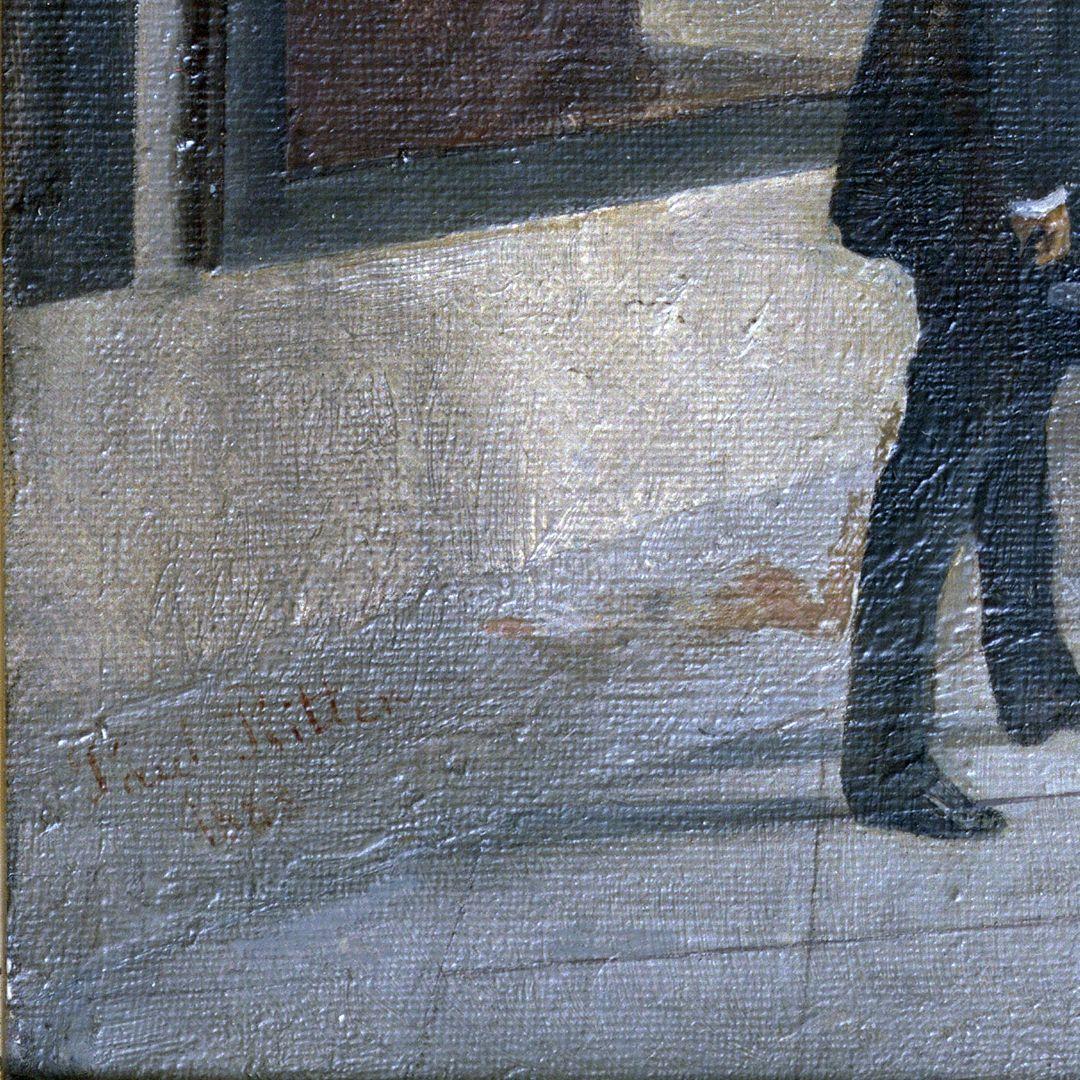 70. Geburtstag Karl Crämers Künstlersignatur in der linken unteren Bildecke