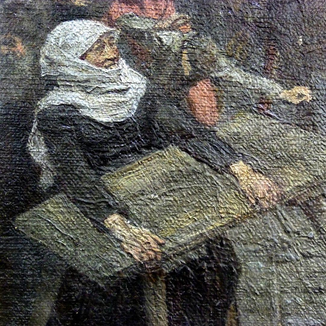 Der Marktplatz zu Nürnberg zur Zeit des Tuniers von 1496 Marktfrau mit Tisch