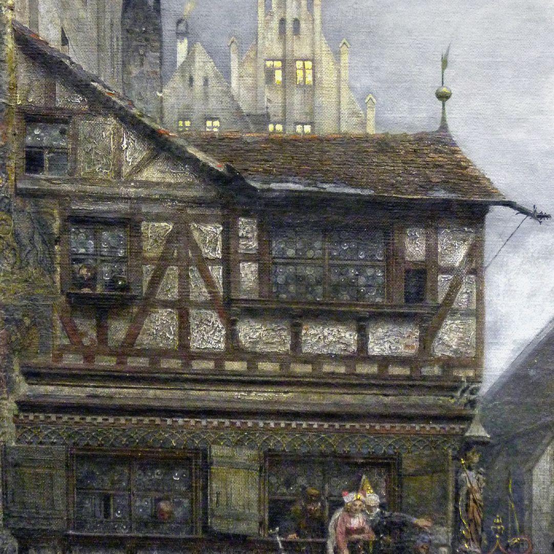 Der Marktplatz zu Nürnberg zur Zeit des Tuniers von 1496 Detail