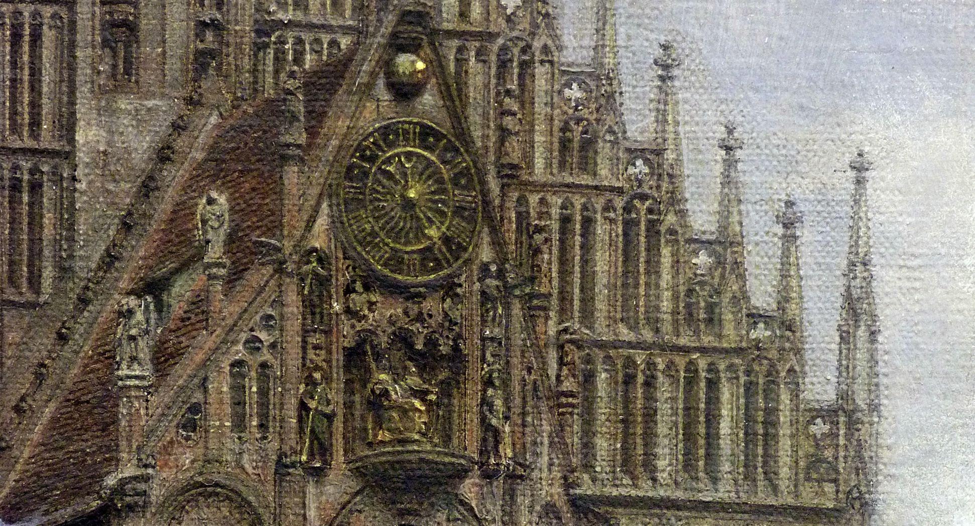 Der Marktplatz zu Nürnberg zur Zeit des Tuniers von 1496 Michaelschor, Detailansicht