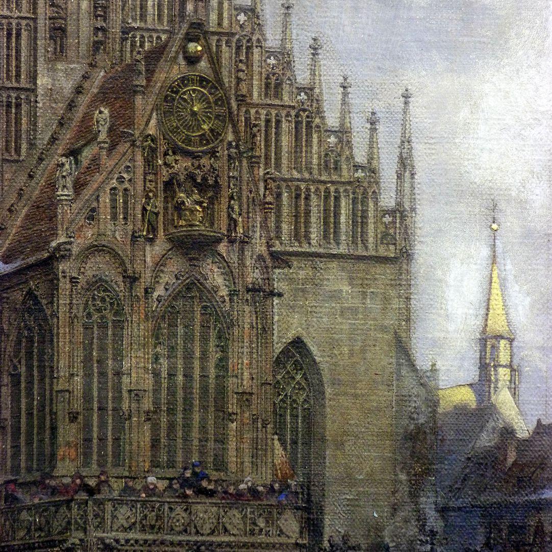 Der Marktplatz zu Nürnberg zur Zeit des Tuniers von 1496 Michaelschor