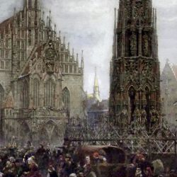 Der Marktplatz zu Nürnberg zur Zeit des Tuniers von 1496
