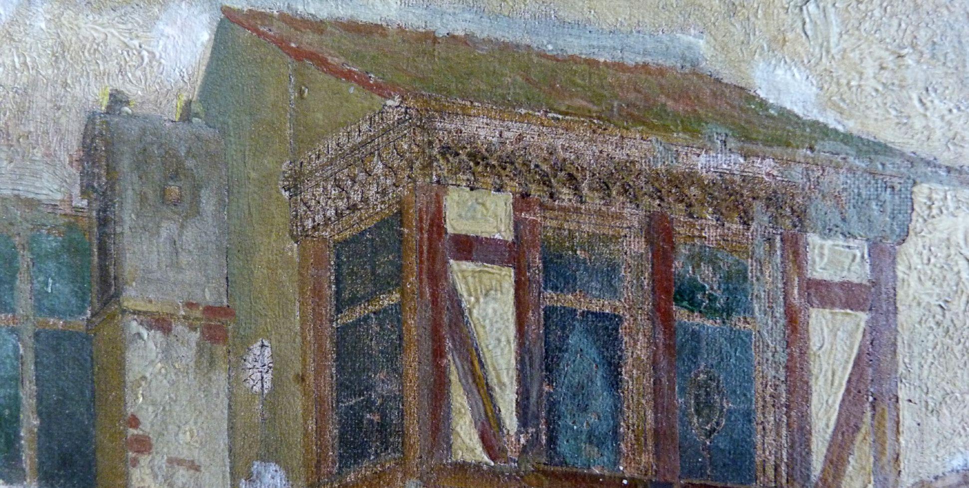 Schöner Brunnen und Meyer´sches Haus Chörlein, Detail
