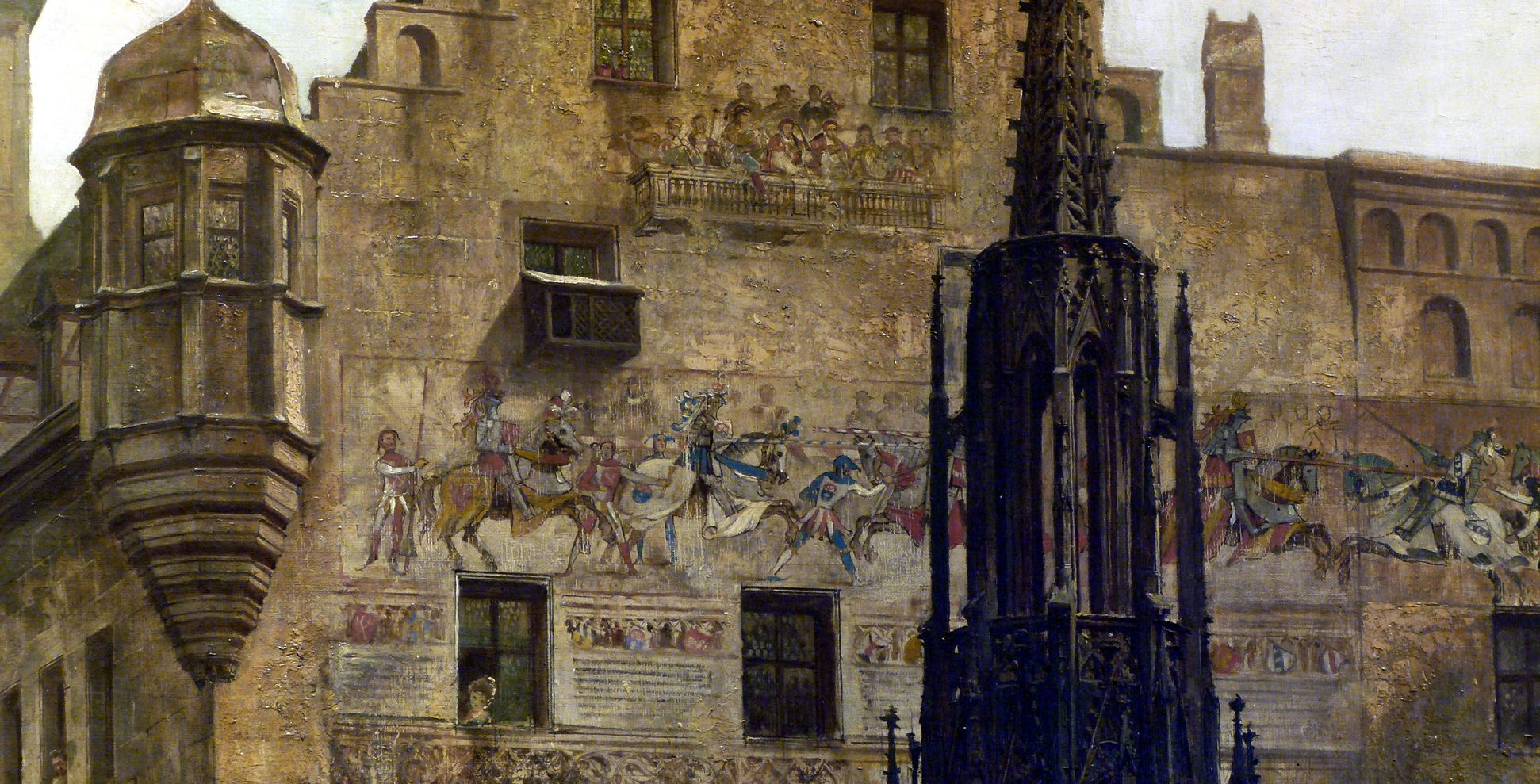 Hauptmarkt mit Blick in die Burgstraße Fassadenmalerei