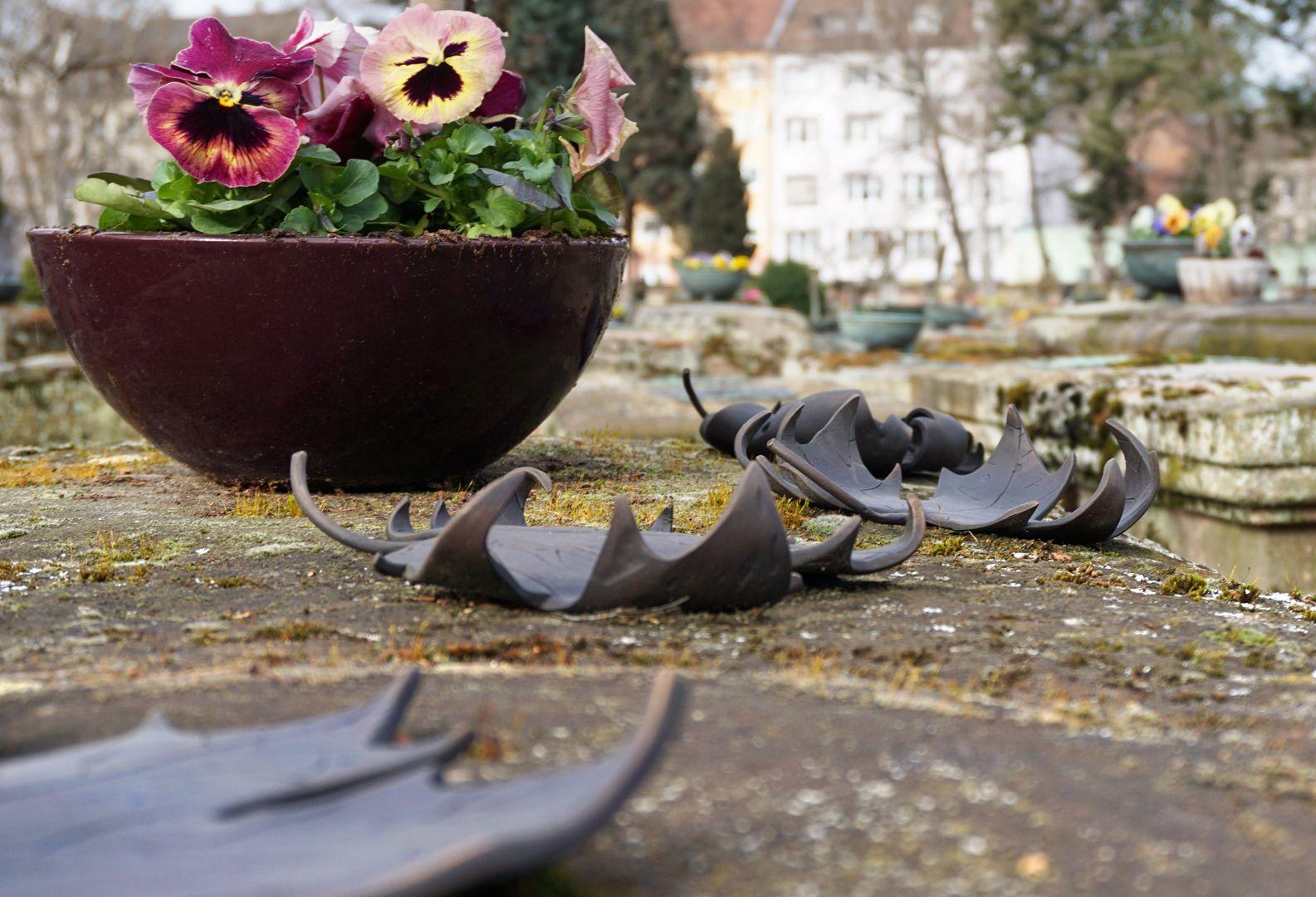Rochusfriedhof Grabstätte 139 Blätter die in der Folge immer mehr verdorrt sind