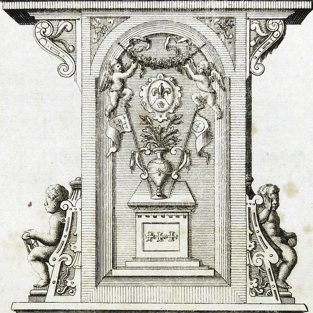 """""""Hinter Theil des Müntzerischen Mausolei, von Mitternacht anzusehen"""" Hauptplatte"""