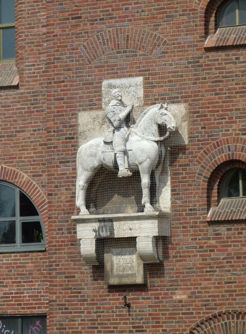 Reiterstandbild von Gustav Adolf Gesamtansicht