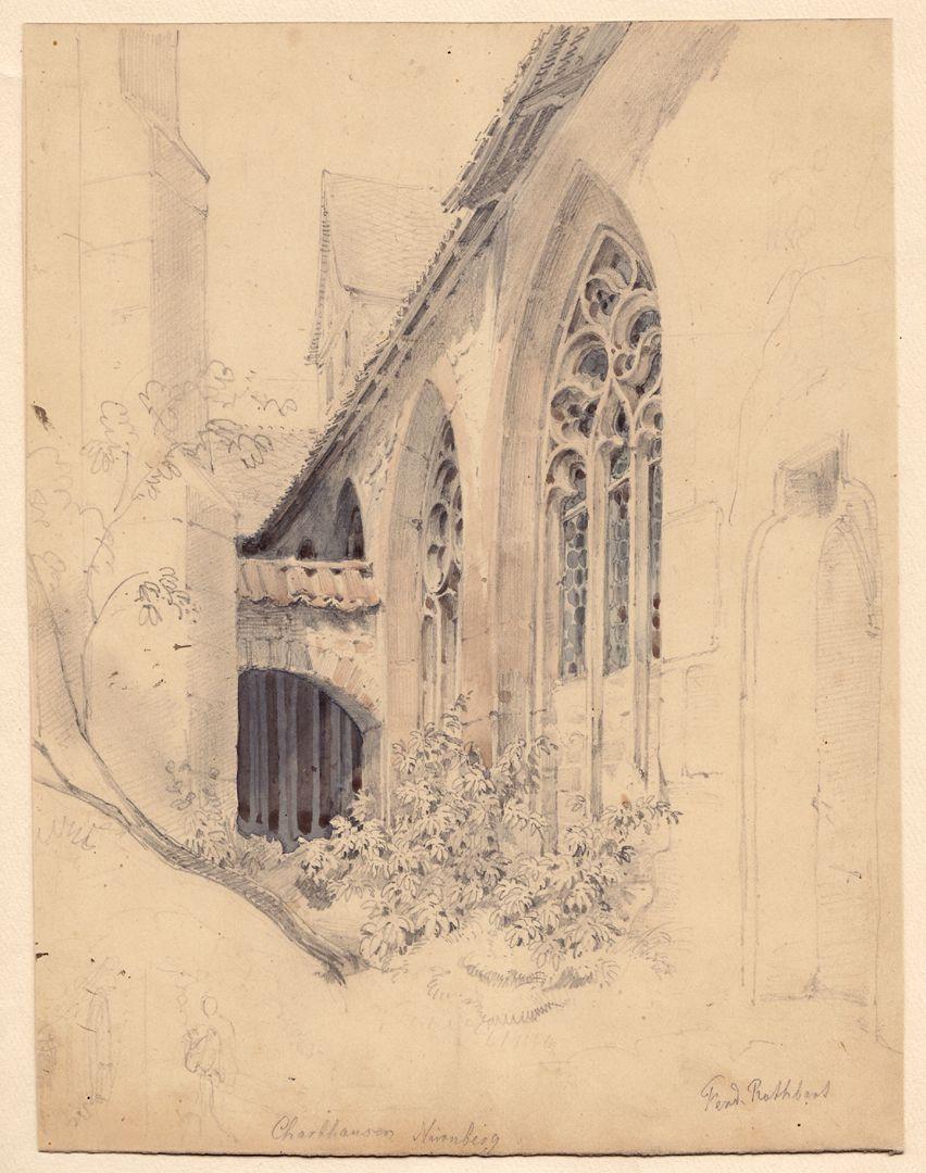 Karthäuser Kloster in Nürnberg / Studie Gesamtansicht