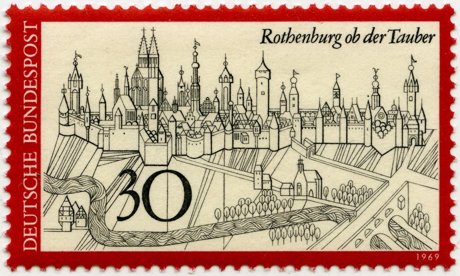 Rothenburg ob der Tauber Gesamtansicht