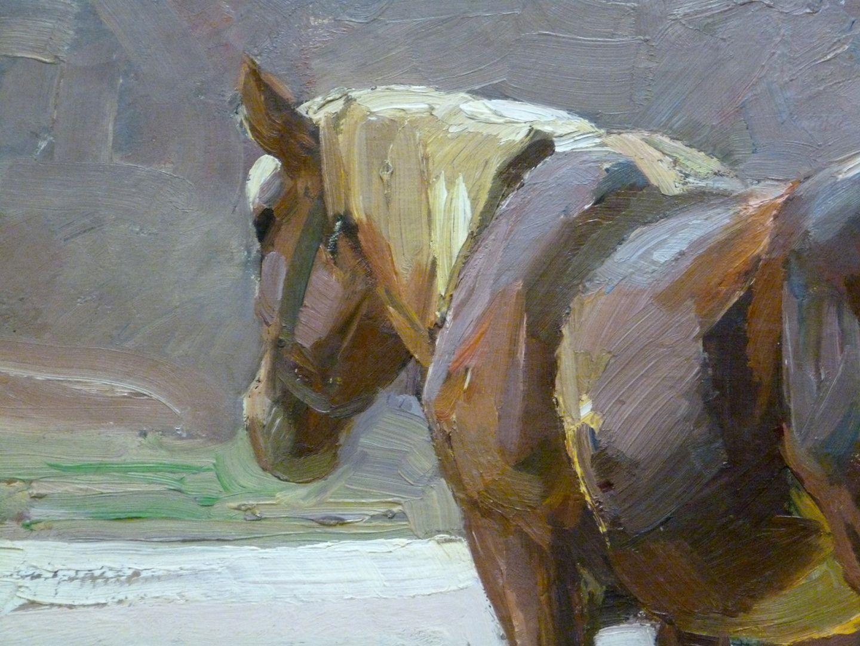 Ruhendes Pferd Detailansicht