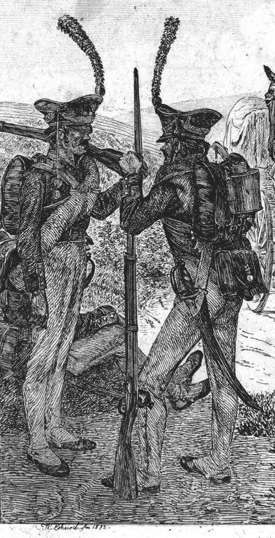 Russische Soldaten Detail mit Soldaten
