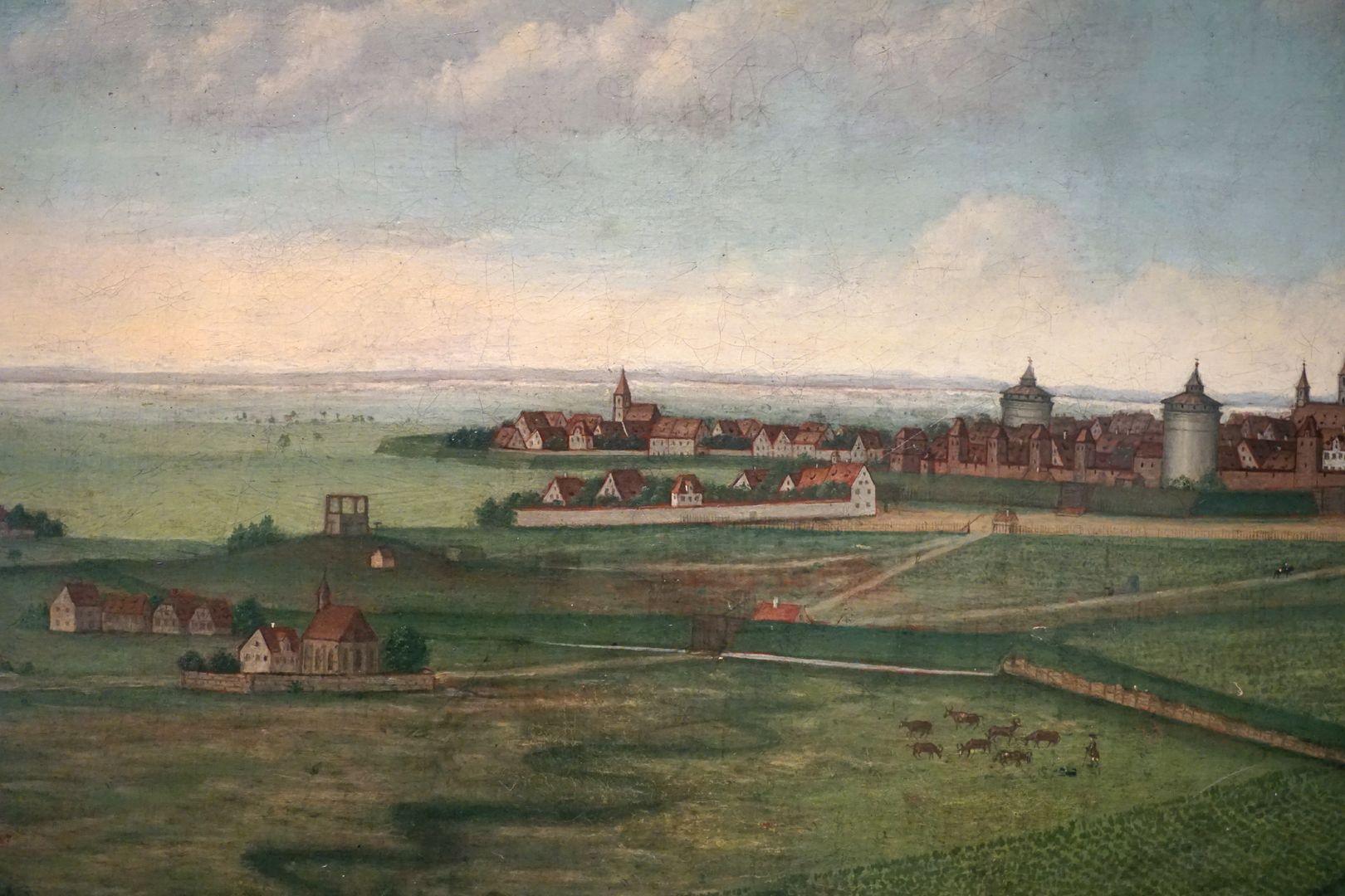 Nürnberg Galgenhof und Sankt Peter im Vordergrund