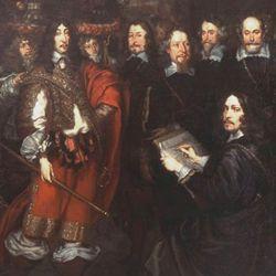 Das Friedensmahl im großen Rathaussaal zu Nürnberg am 25.9.1649