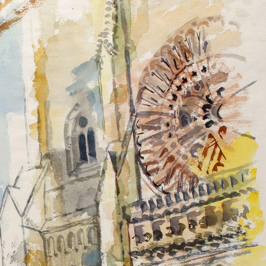 Sankt Lorenz Detailansicht mit Fensterrose