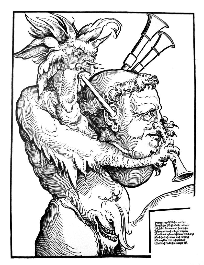 Der Teufel mit der Sackpfeife Gesamtansicht