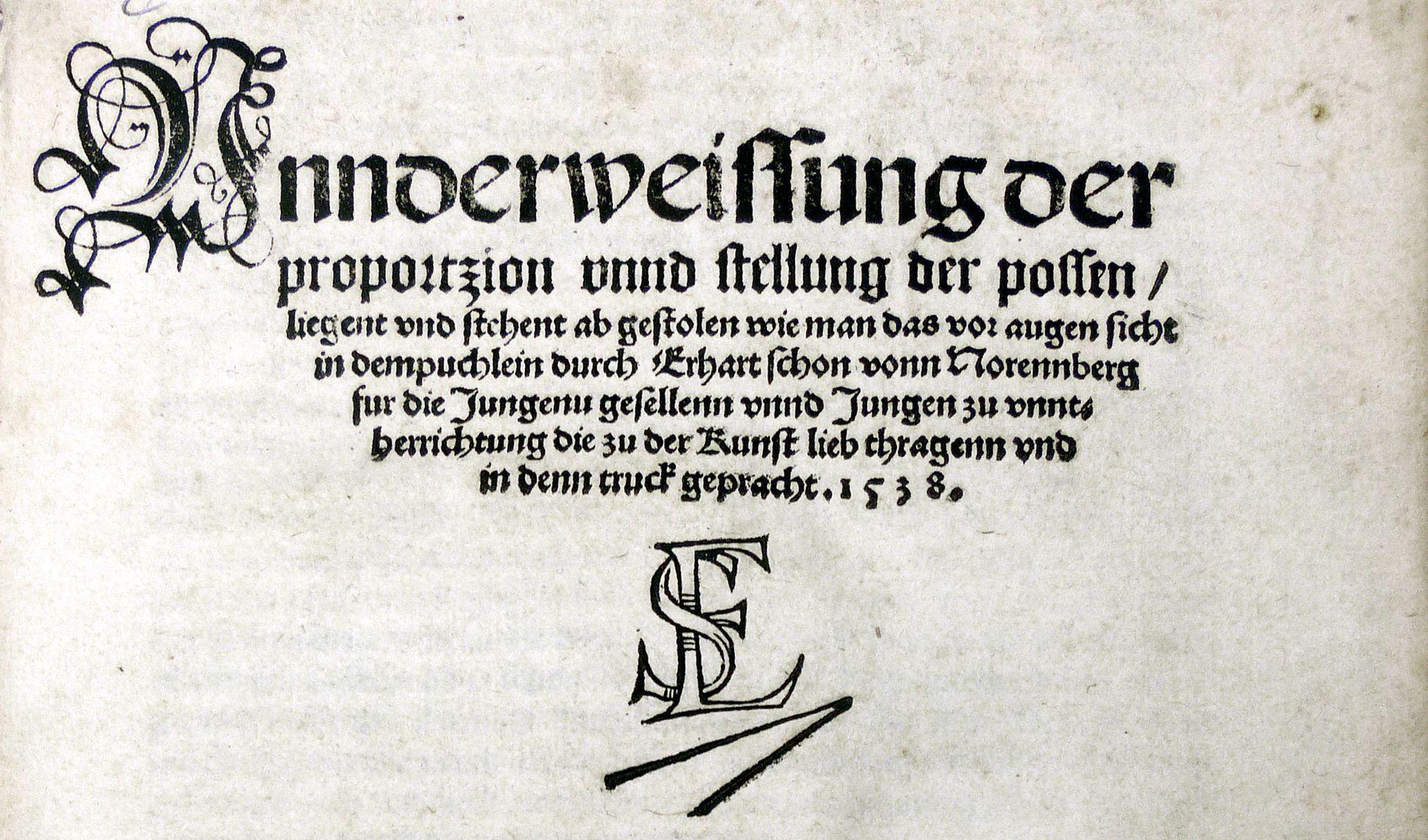 """""""Unnderweissung der porportzion ..."""" Titel"""