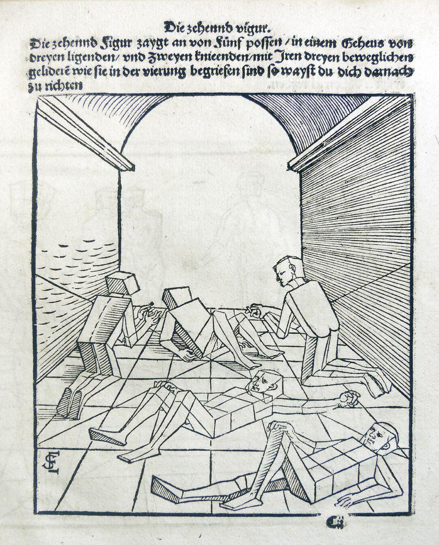 """""""Unnderweissung der porportzion ..."""" Die zehnte Figur"""