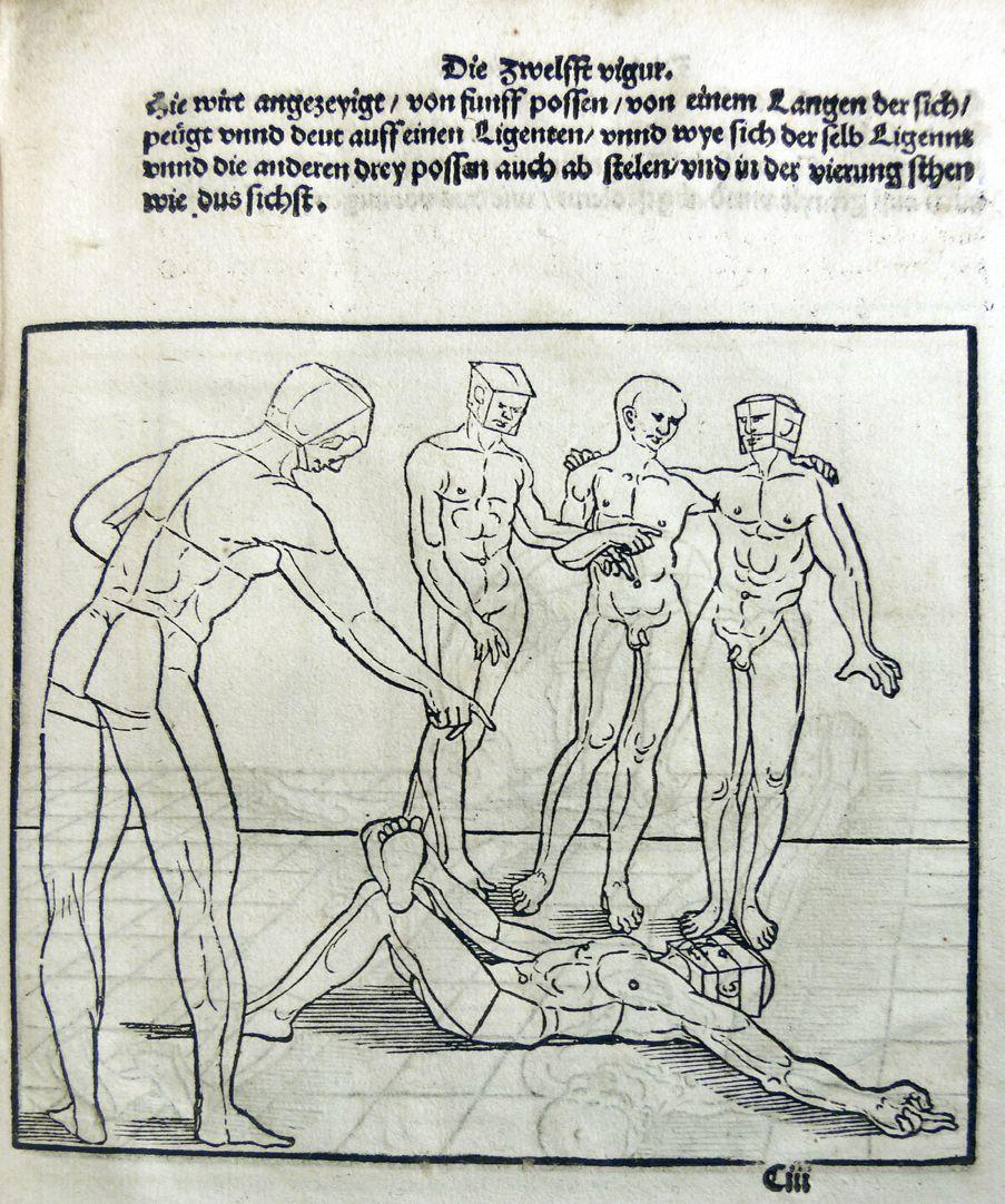 """""""Unnderweissung der porportzion ..."""" Die zwölfte Figur"""