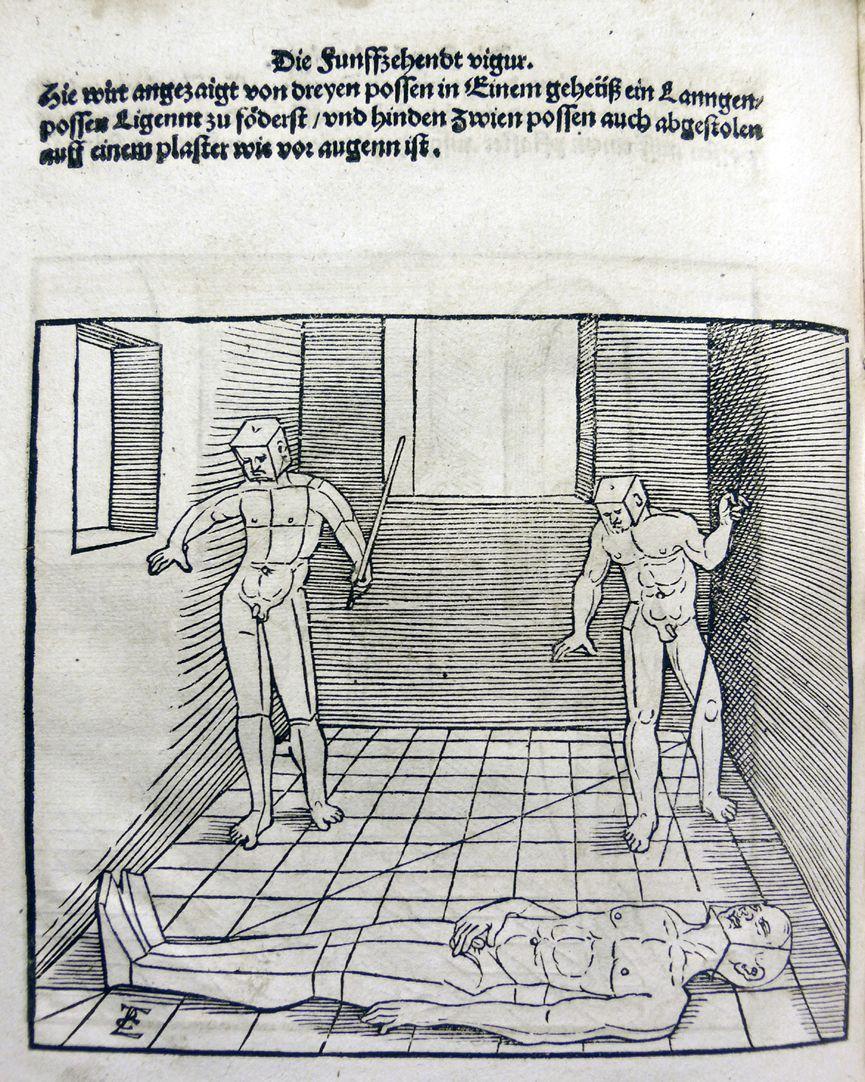 """""""Unnderweissung der porportzion ..."""" Die fünfzehnte Figur"""