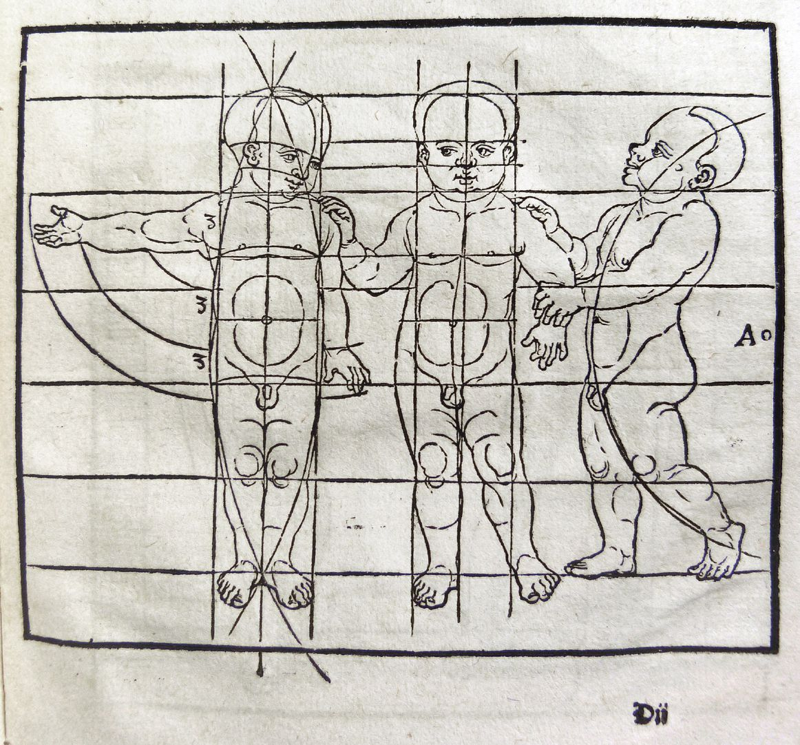 """""""Unnderweissung der porportzion ..."""" Die siebzehnte Figur"""