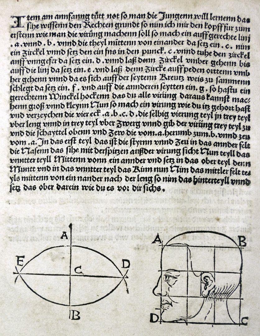 """""""Unnderweissung der porportzion ..."""" Vorrede, Seite 2"""