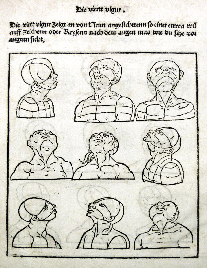 """""""Unnderweissung der porportzion ..."""" Die vierte Figur"""