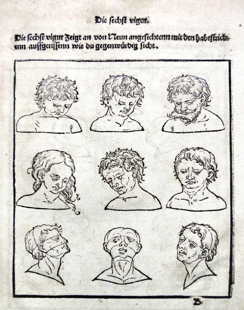 """""""Unnderweissung der porportzion ..."""" Die sechste Figur"""