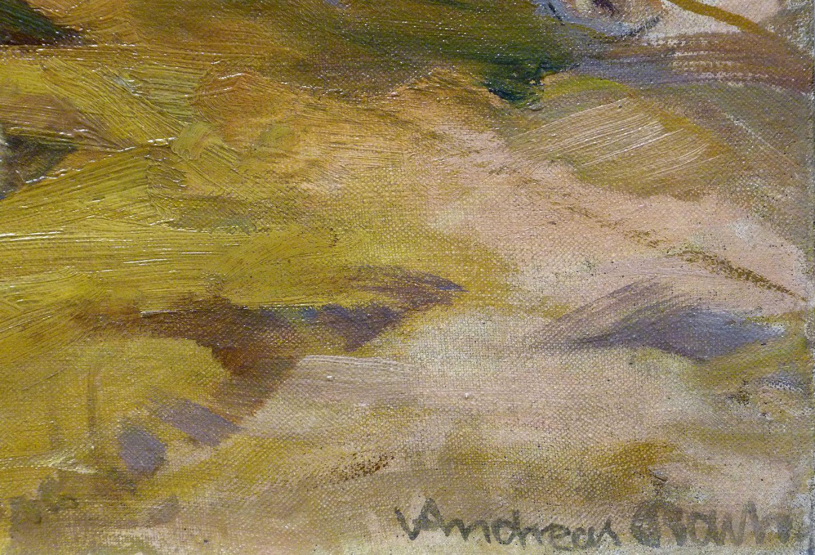 Schafe rechtes unteres Bildfeld mit Signatur