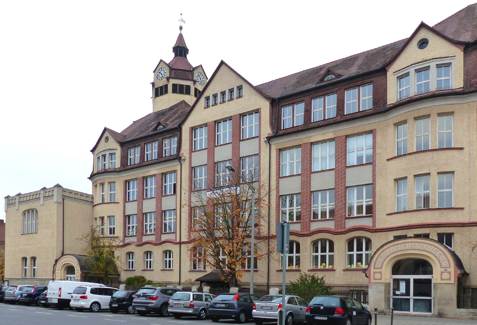 Scharrerschule Haupttrakt an der Scharrerstraße