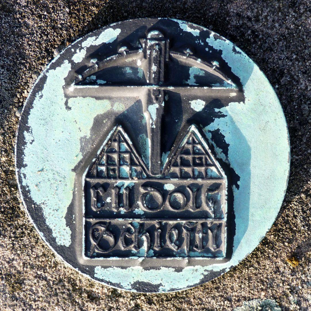 Epitaph Rudolf Schiestl rechte Gedenkplakette
