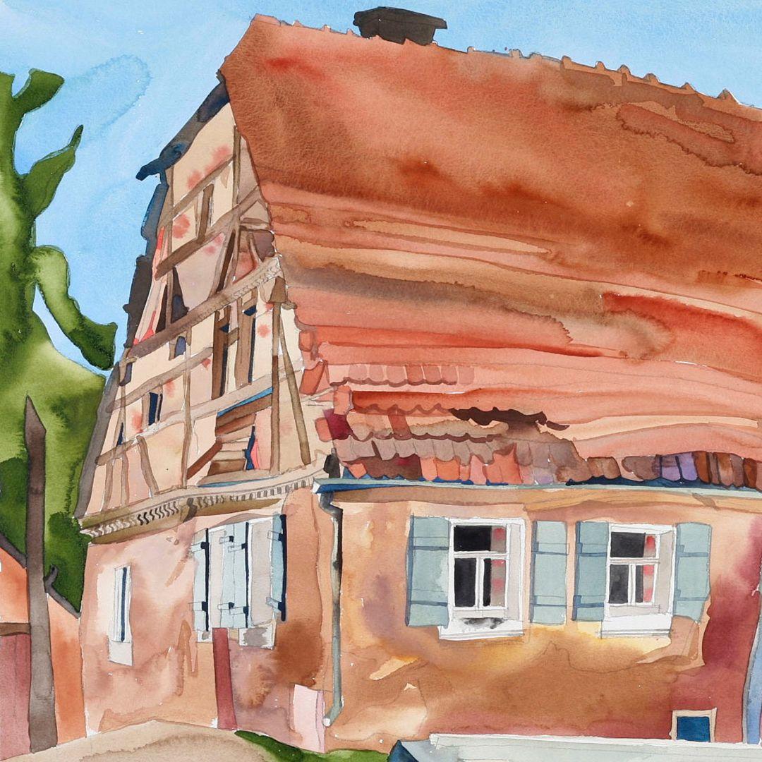 Haus vor dem Abriss Detailansicht
