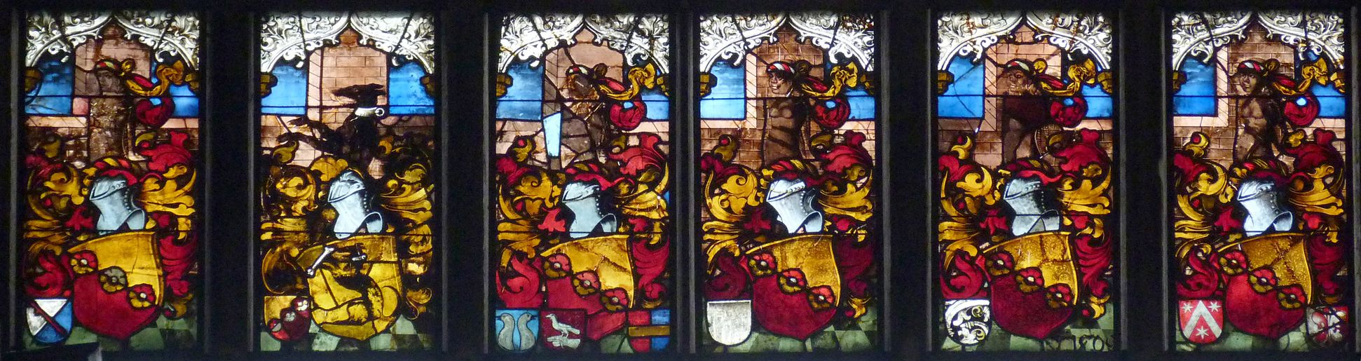 Schmidmayer-Fenster Wappenreihe