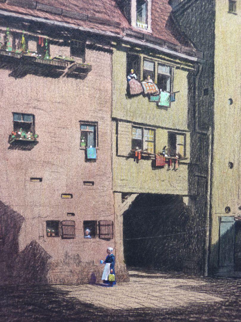 Hof Äußerer Laufer Platz 26 - 32 Detail mit Hofeinfahrt