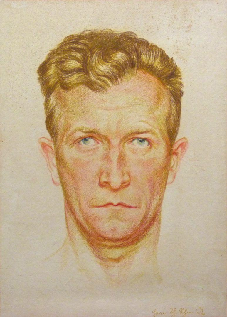 Selbstportrait, Hermann Thomas Schmidt Selbstportrait
