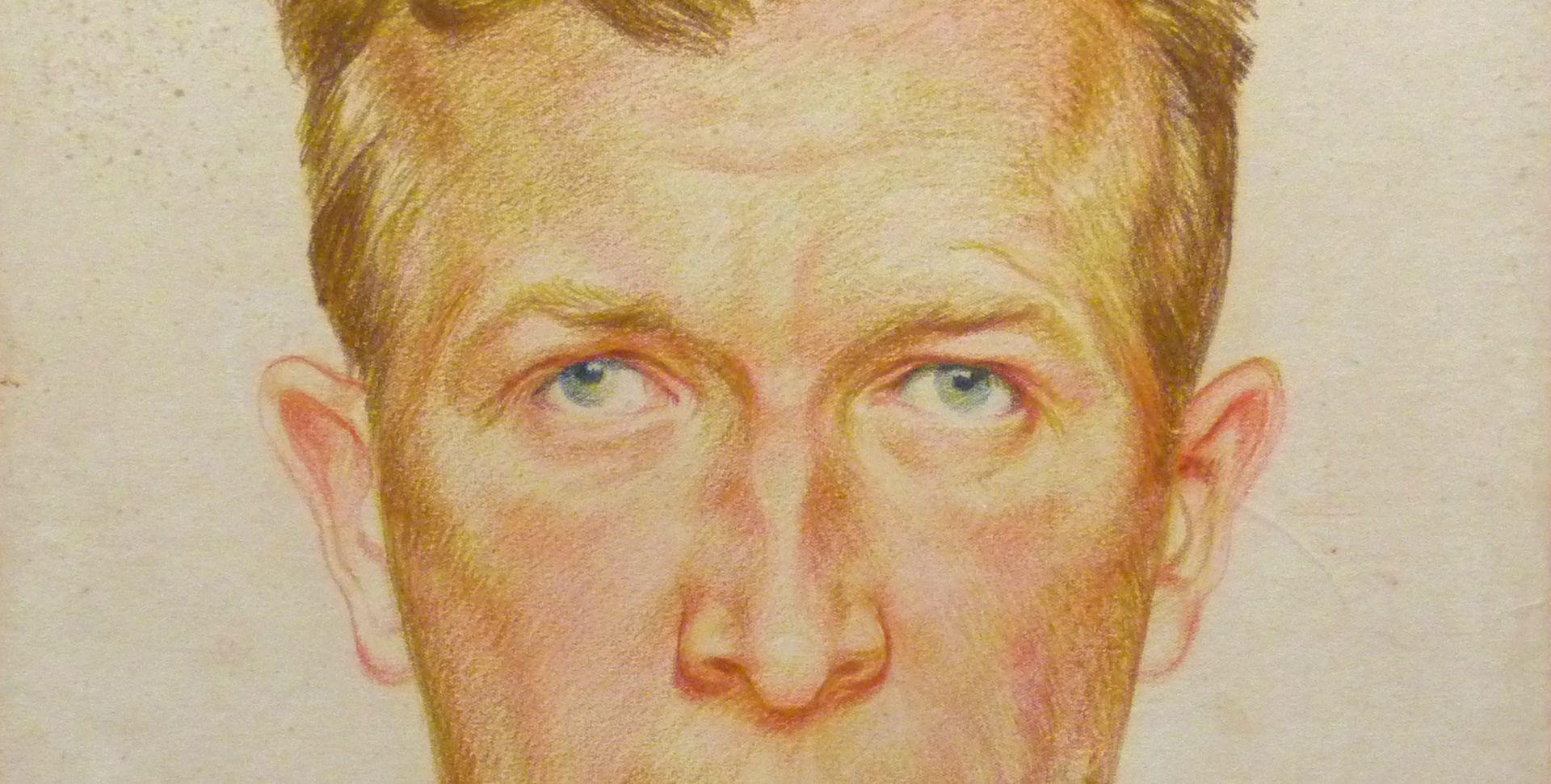 Selbstportrait, Hermann Thomas Schmidt Detail