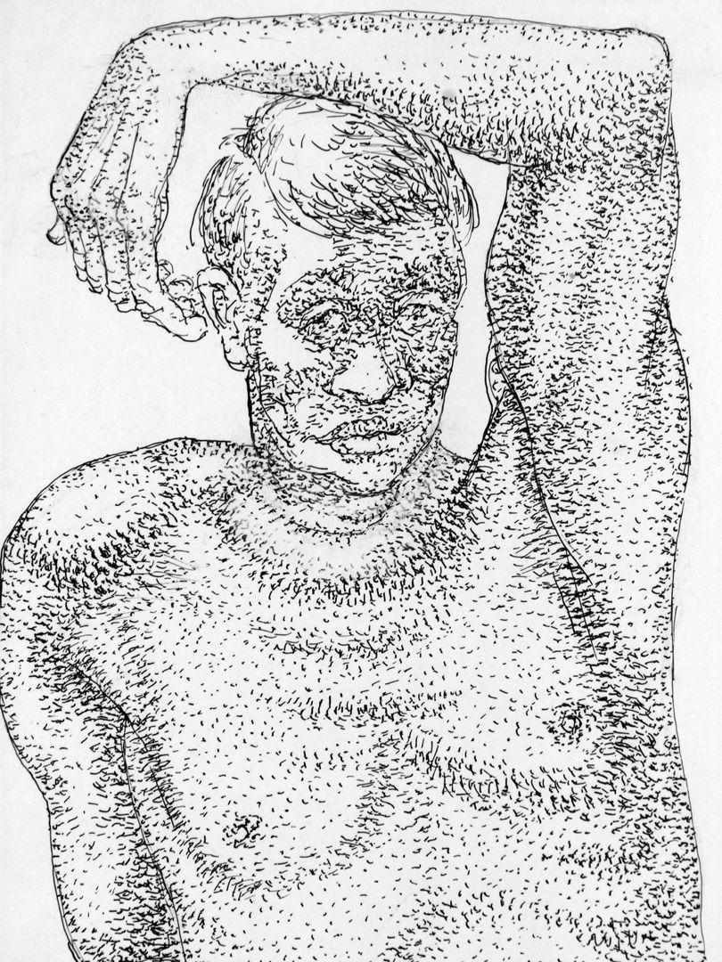Männliche Aktstudie Detail